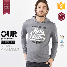 HongXiong factory OEM new style 100%cotton leisure outdoor pocket printed pullover man hoodie