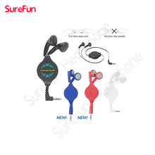 custom dj headphones retractable earphones with deep bass with custom logo free sample offered