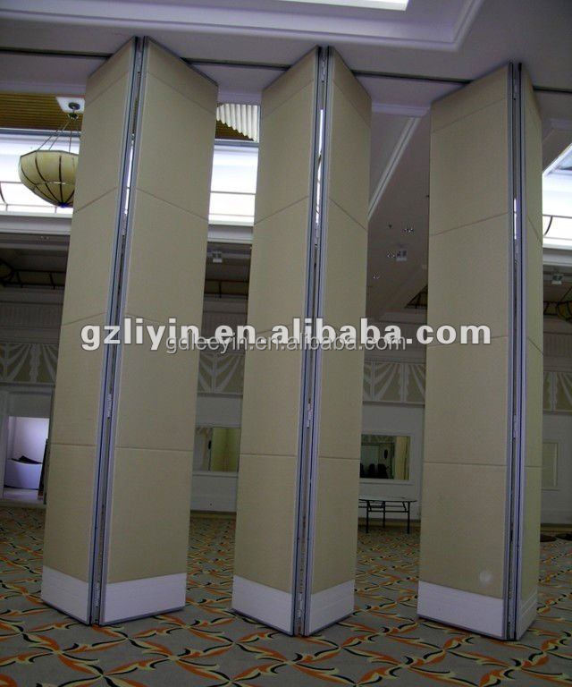 Aluminum Movable Partition wood folding doors