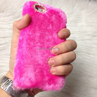 Faux Fur Mobile Phone Cases Cover Fake Fur Phone Cover Case Cheap Price