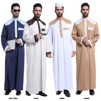 Wholesale fashion high quality islamic arabic muslim men's clothing abaya kaftan