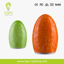 2014 hotel outdoor egg shape cordless solar led garden lamp