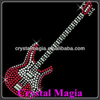 Guitar design custom rhinestone transfers