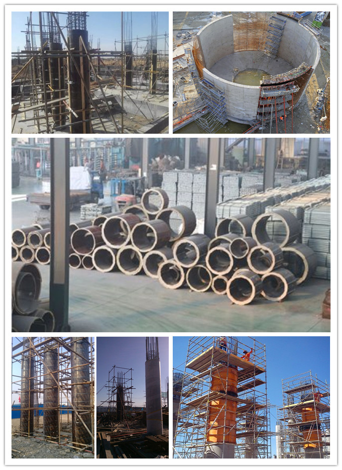 Cylindrical plywood used formwork concrete manufacturers