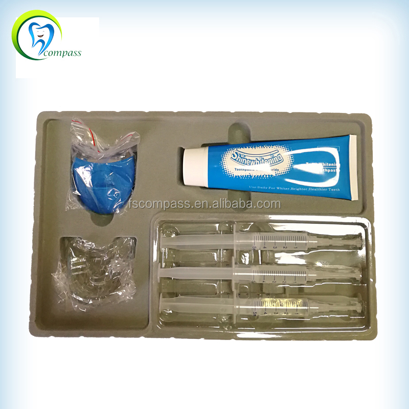 teeth whitening gel with portable laser plasma light for Home Use Kit 35% hydrogen peroxide