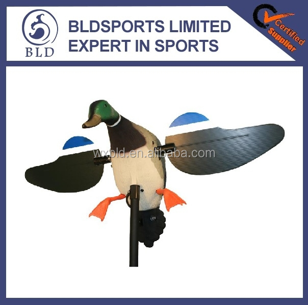2015 New fashion high quality Mallard Drake with Remote control spinning wing motorized hunting duck decoy