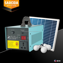 SARODA 10W Solar 220V Inverter Battery Portable Solar Kit Camping led lighting system Solar Power Generation