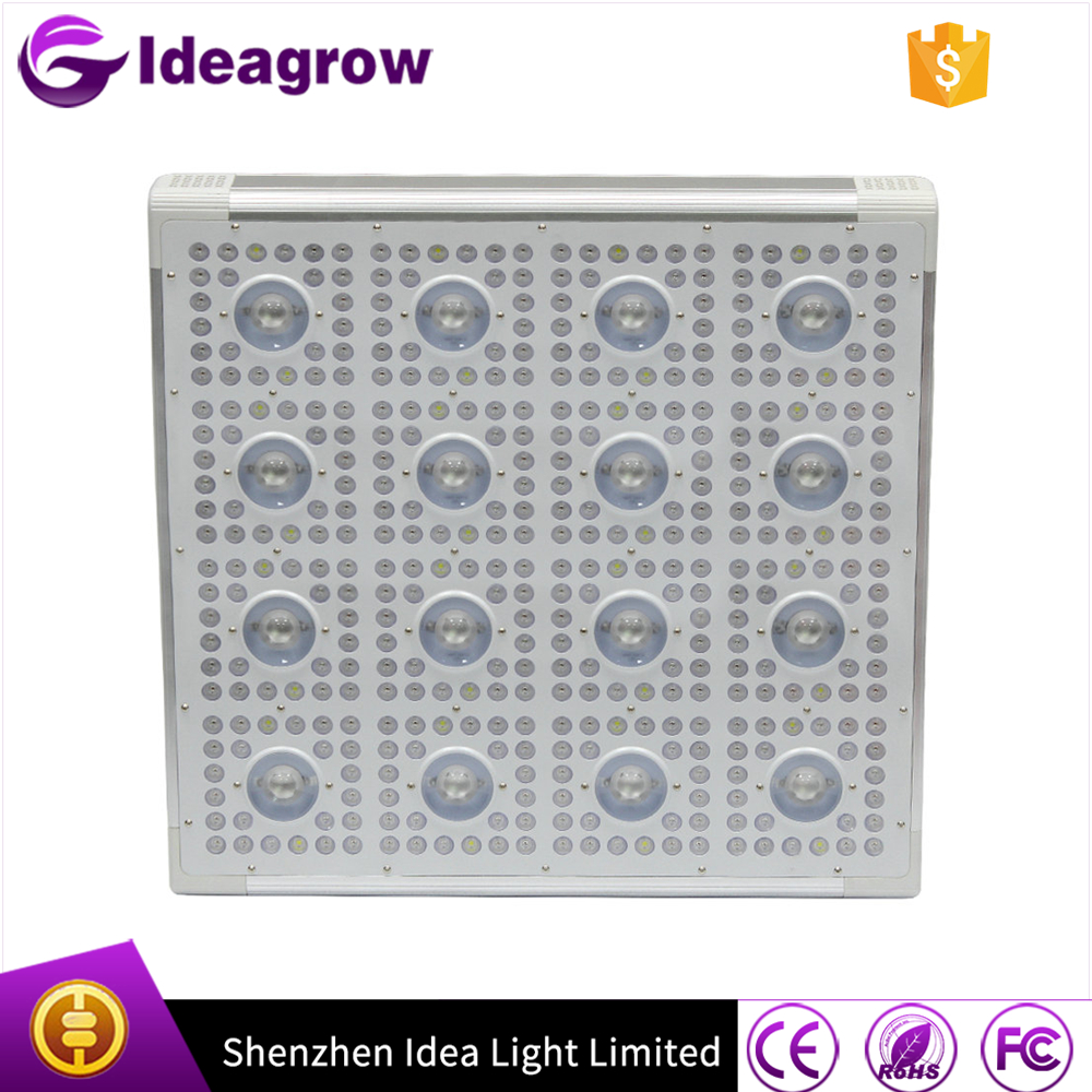 IDEA LIGHT Factory 12 band led grow light panel led 650nm 450nm full spectrum 1000 watt led grow light