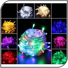 Hot sale 220V 10m 60leds 80leds 100leds christmas holiday led decoration cooper wire string lights