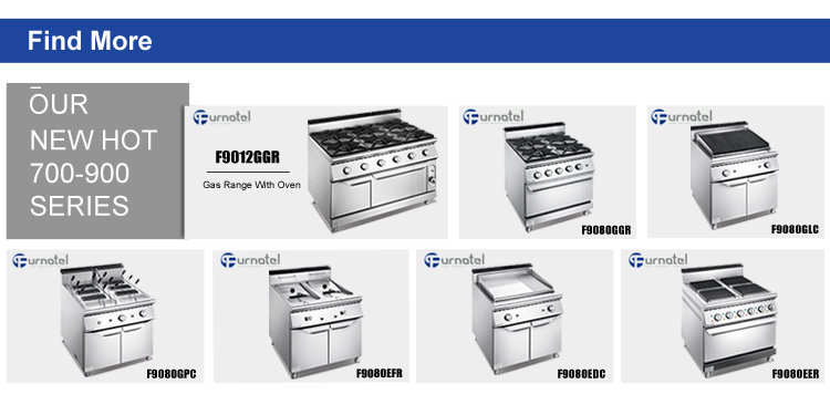 Hot Line Furnotel 900 Series 4-Burner Cooking Gas Range Cooker With 4 Burner Oven