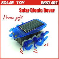 Best Christmas promotional Gift Solar Toy Bionic Rover Car+No Battery Needed+6 Wheels Toy Car Runs Fast