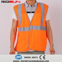 Chalecos de alta visibilidad safety vest 100% polyester highway traffic police safety vest high visibility reflective st