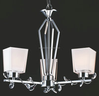 modern glass shade chandelier with crystal decorated for America market