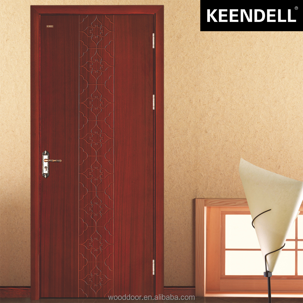 Interior plain solid wood door