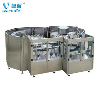 3 in 1 mineral water filling making machine, beverage bottling production line plant