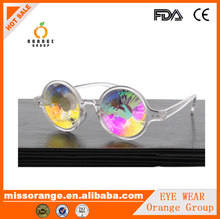 Kaleidoscope Sunglasses 2017 new arrival street fashion or club party bling crystal lens unique rainbow fractal glasses