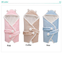 Warm Velour Swaddle Wrap Blanket Sleeping Bag for Newborn baby shower a Good gift for Infant