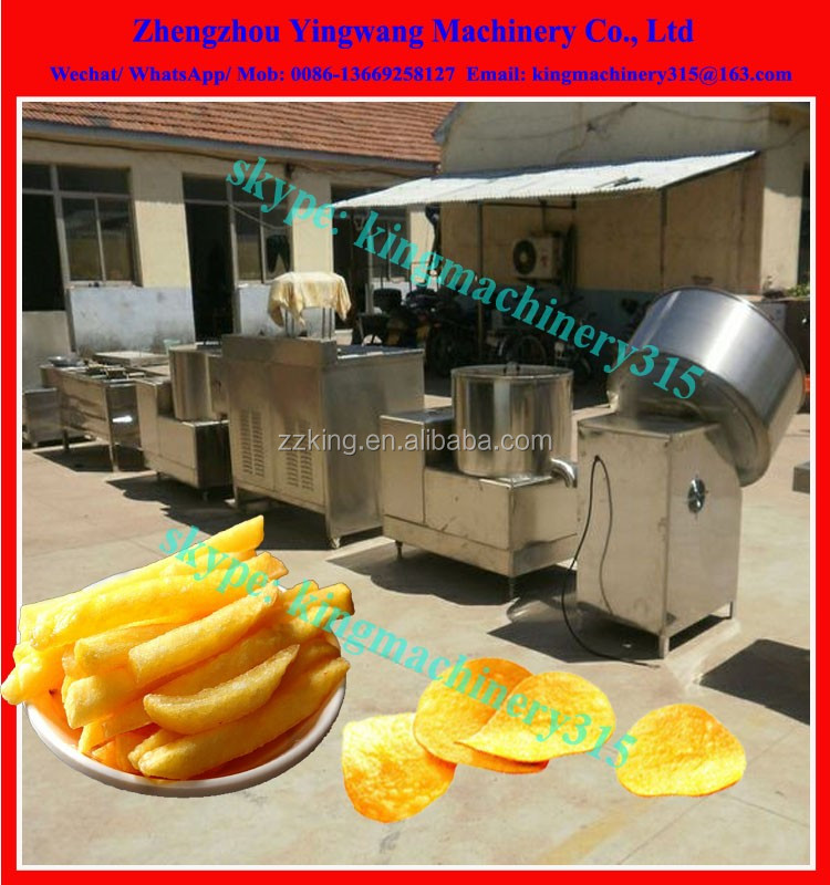 Automatic potato chips fryer machine