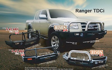 Bull bar for Ford Ranger
