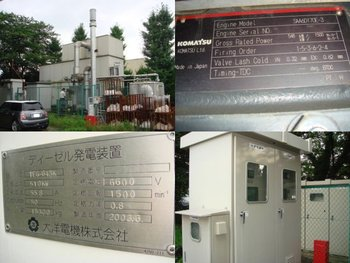 Second Hand - TAIYO DIESEL GENERATOR SET x 1 Unit