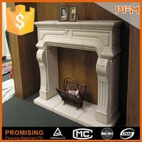 natural well polished beautiful decorative beautiful hand carved personalized stone white fireplace marmer white fireplace
