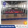 Organic and 100% pure PVC virgin raw materials pvc sport floor manufacturer