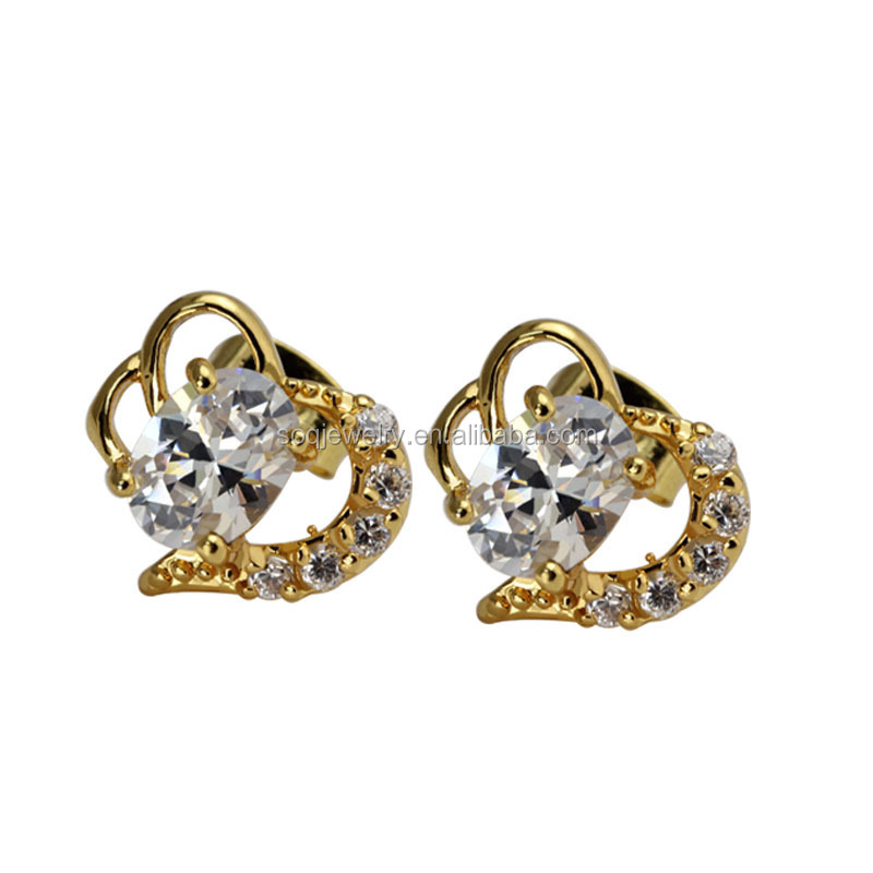 ES-003 Wholesale Fashion Luxury High Quality Vintage Crystal Bridal Earrings with Stainless Steel Flower Charms