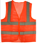 Mesh Safety Vest With 2 Horizontal and 2 Vertical