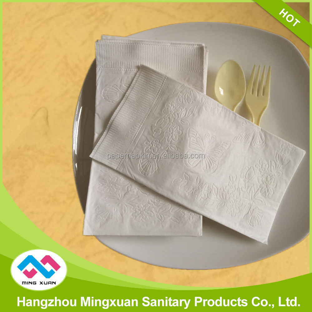 Wholesale 15''x16.5'' 2 Ply 1/8 Fold White Dinner Paper Napkins