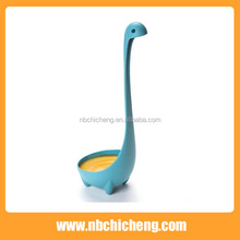 Kitchen plastic chinese soup spoon loch ness monster spoon