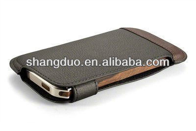 Leather cheap mobile phone cases for iphone 5
