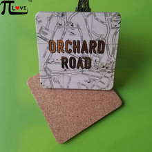 Guangzhou Hot sale table helper heat resistant wood mdf beverage pad with cork