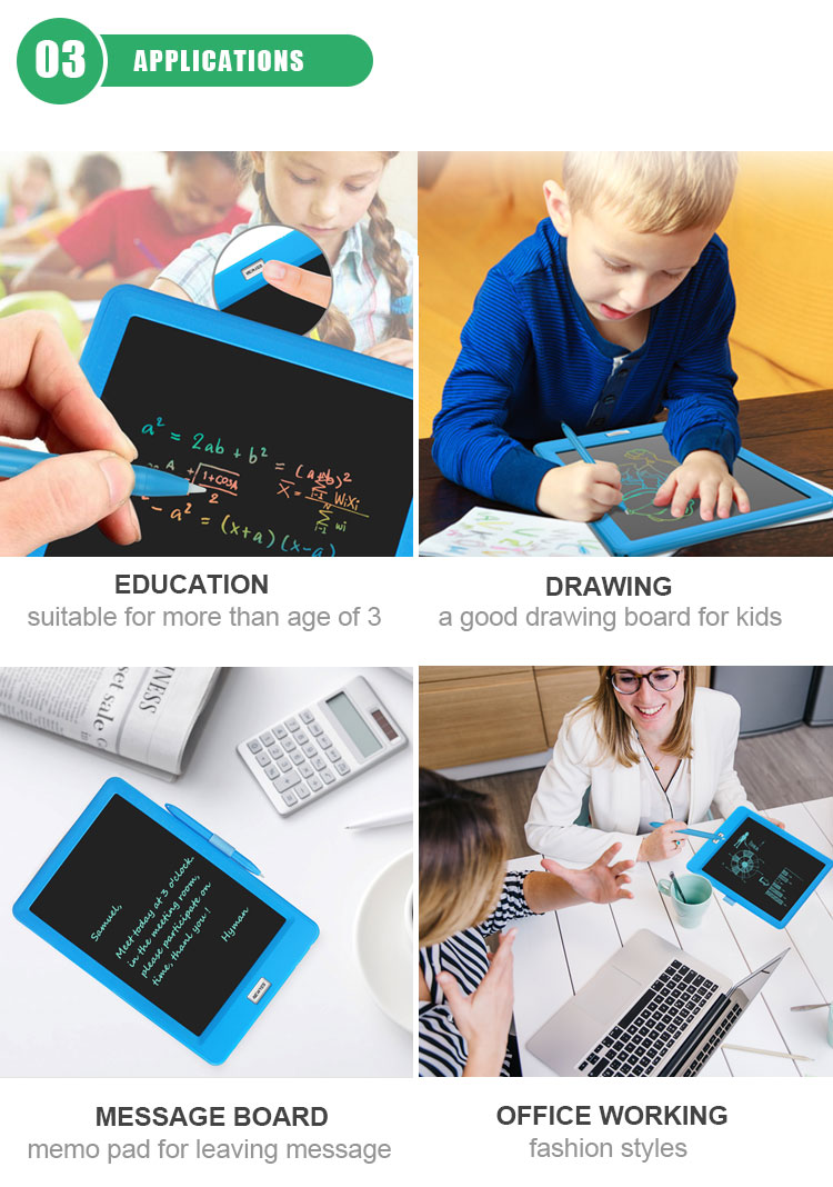 Design Small Size Pocket Drawing Pad Notepad Digital Board 4.4 Inch Ewriter Kids Lcd Writing Tablet