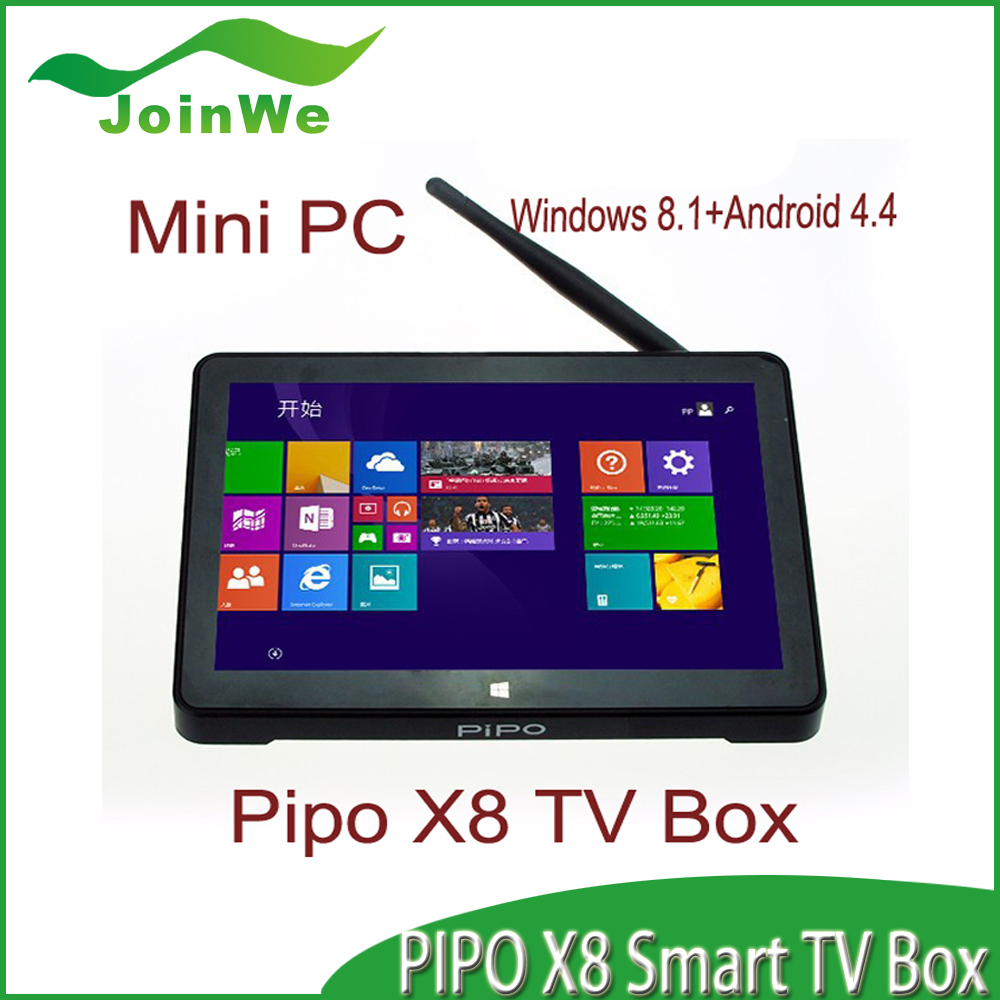 Original PiPO X8 Set Top Box 2GB/64GB Wins 10+Android 4.4 Dual OS 7 Inch Touch Screen MINI PC Satellite TV Box