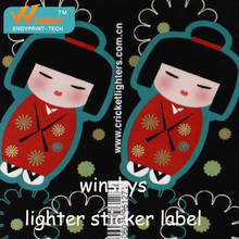 Printing all kinds of disposable lighters sticker,custom lighter sticker