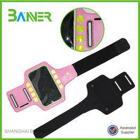 Mobile phone adjustable arm bag Outdoor Sport PU waterproof armband
