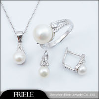 big hyderabad freshwater pearl gold plated jewelry sets