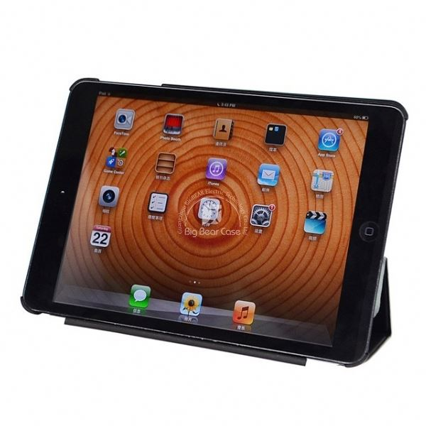360 rotation leather case triangle stand for ipad