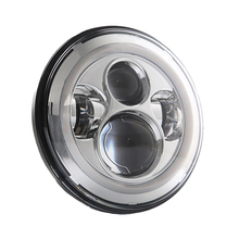 7 Inch 45W H4 LED Headlights With Angle Eyes For Lada 4x4 Urban Niva Land Rover 90/110 Defender