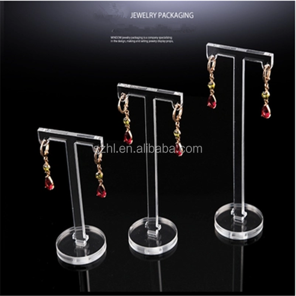 Clear acrylic earing jewelry floor stand display
