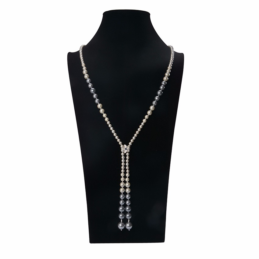 Artificial pearl necklace choker necklace set