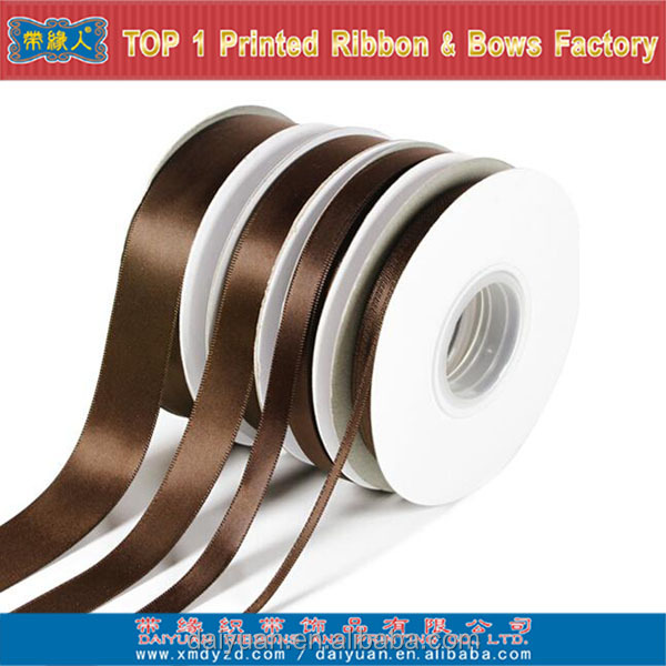 100 yards brown satin ribbon paper roll