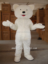 White bear mascot costume cosplay Merry Christmas adult bear plush costume party