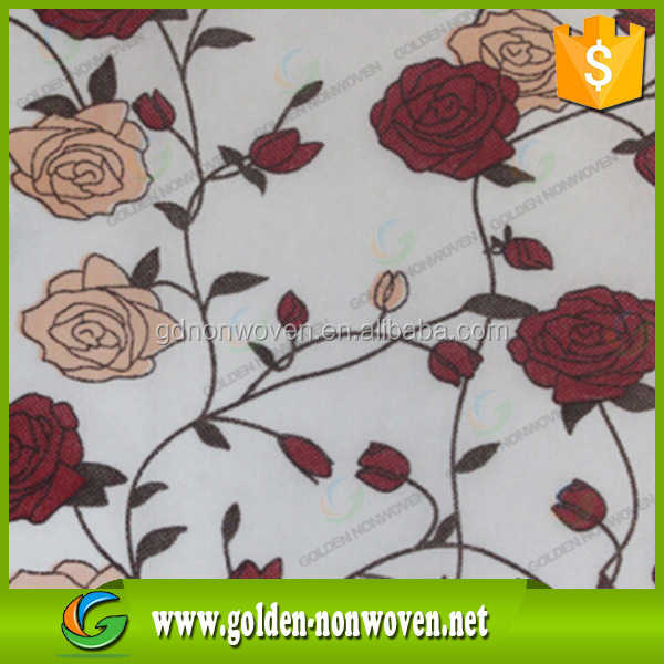 china factory Pp Spunbond Printed lamination Non Woven Fabric for table cloth, bag