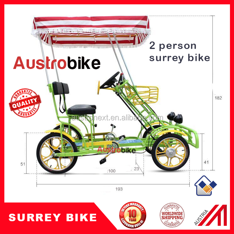 hot sale electric surrey bike for four people and 2 people