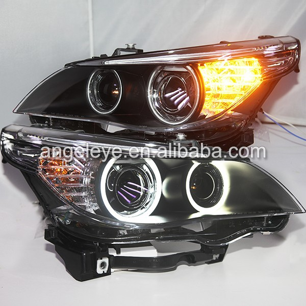 2003-2004 Year for BMW E60 523i 525i 530i LED Angel Eyes Front Light fit Original Car with Xenon Bulbs LF