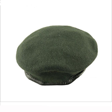 Factory Price High Quality Adjustable Army Green Black Military Men Wool beret