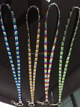 beaded badge holder rhinestone fashion neck breakaway bling sparkling crystal lanyard wholesale