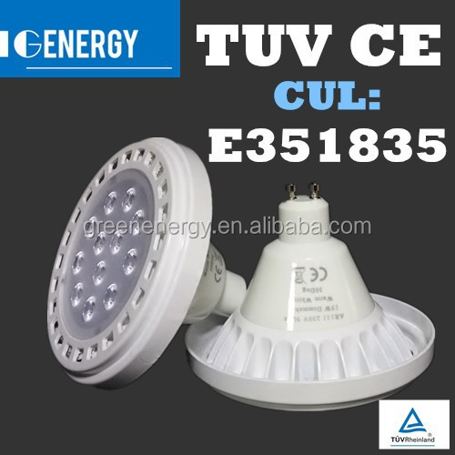 Greenenergy lowest price 6500k 60 degree SMD 2835 dimmable ar111 gu10 led