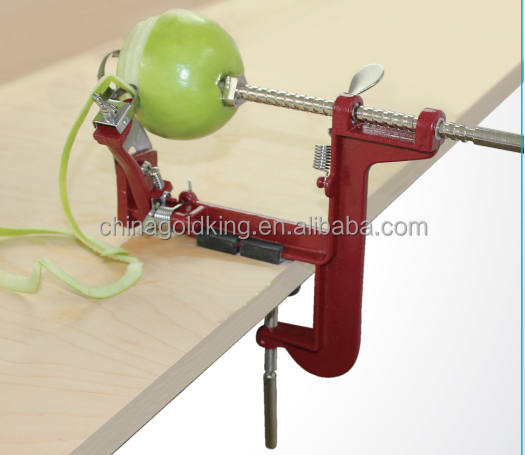 Red Clamp Type Apple Corer Apple Peeler